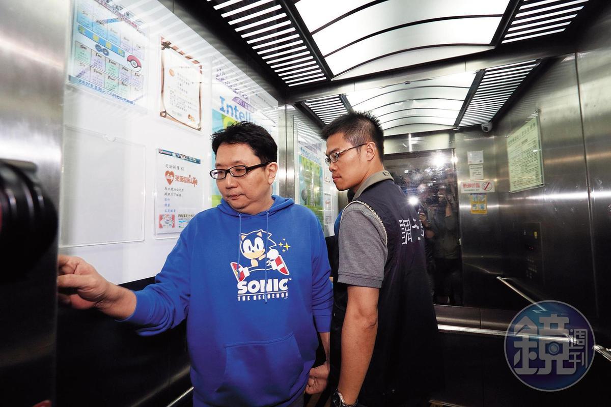 樂陞負責人許金龍(左)被北檢傳喚後,遭聲押禁見獲准,1審重判18年,全案由高院審理中。