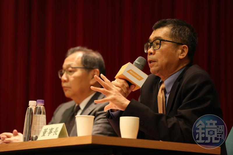 聯發科董事長蔡明介幫執行長蔡力行打了91分的成績。