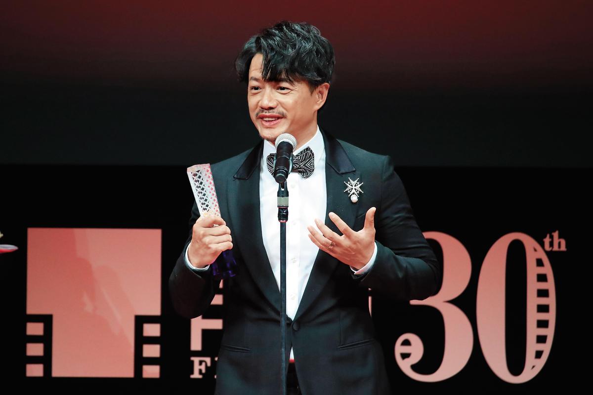 段奕宏以《暴雪將至》,榮獲第30屆東京國際電影節最佳男主角。(東方IC)