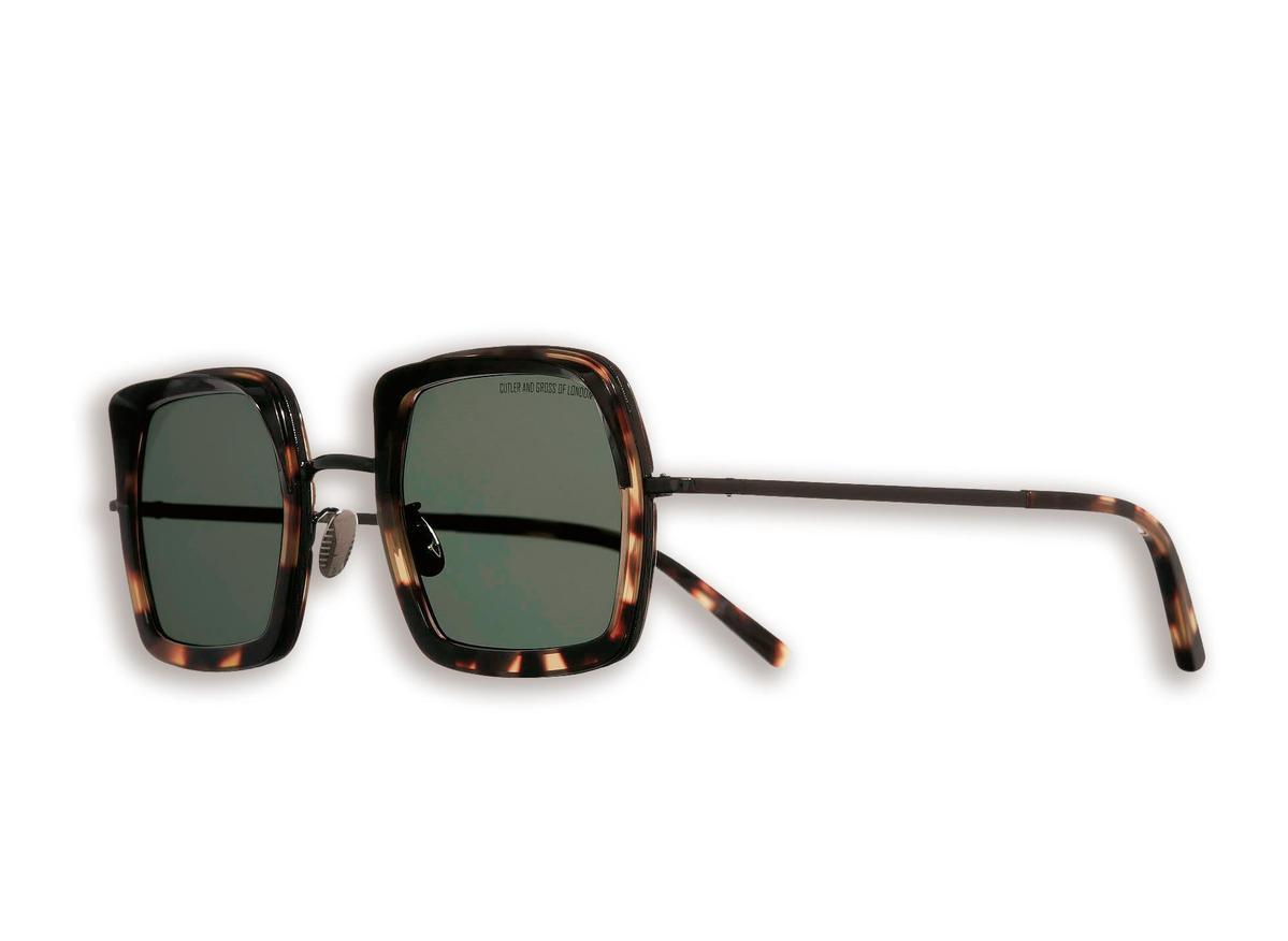 CUTLER & GROSS琥珀色板材方框太陽眼鏡 NT$18,000