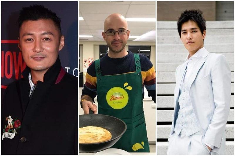 演藝圈有不少男藝人是「疼某俱樂部」成員,左起余文樂、吳鳳、藍正龍。