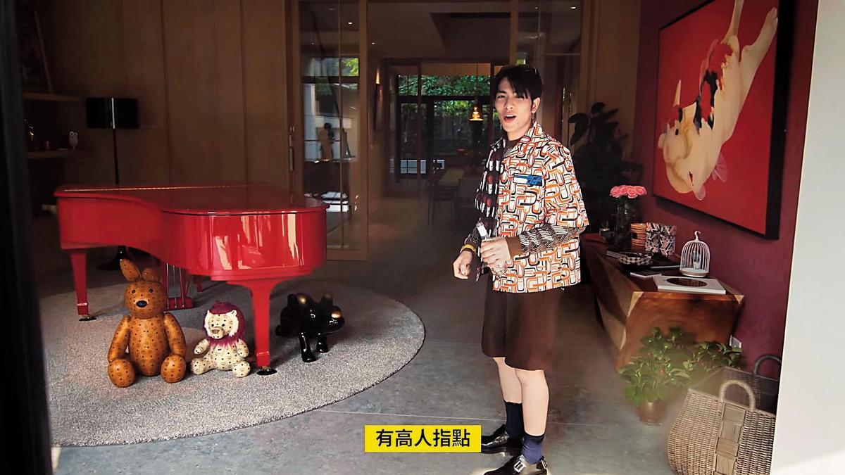 蕭敬騰透露有「高人指點」,身為房子主人只能走左邊進入,其他人則不限制。