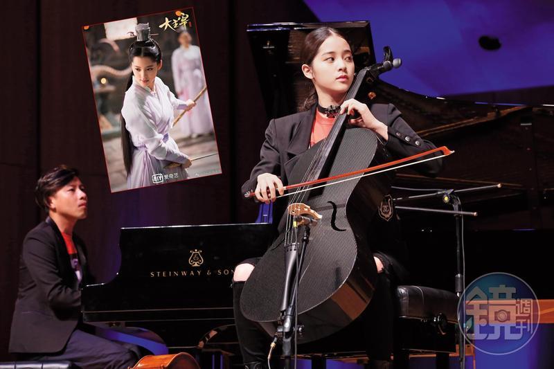 歐陽娜娜日前在台開出書記者會,開心分享9月即將前往波士頓伯克利音樂學院念書的心情。她在上半年默默賺了至少3億元安家費,左圖為她今年接拍的古裝劇。