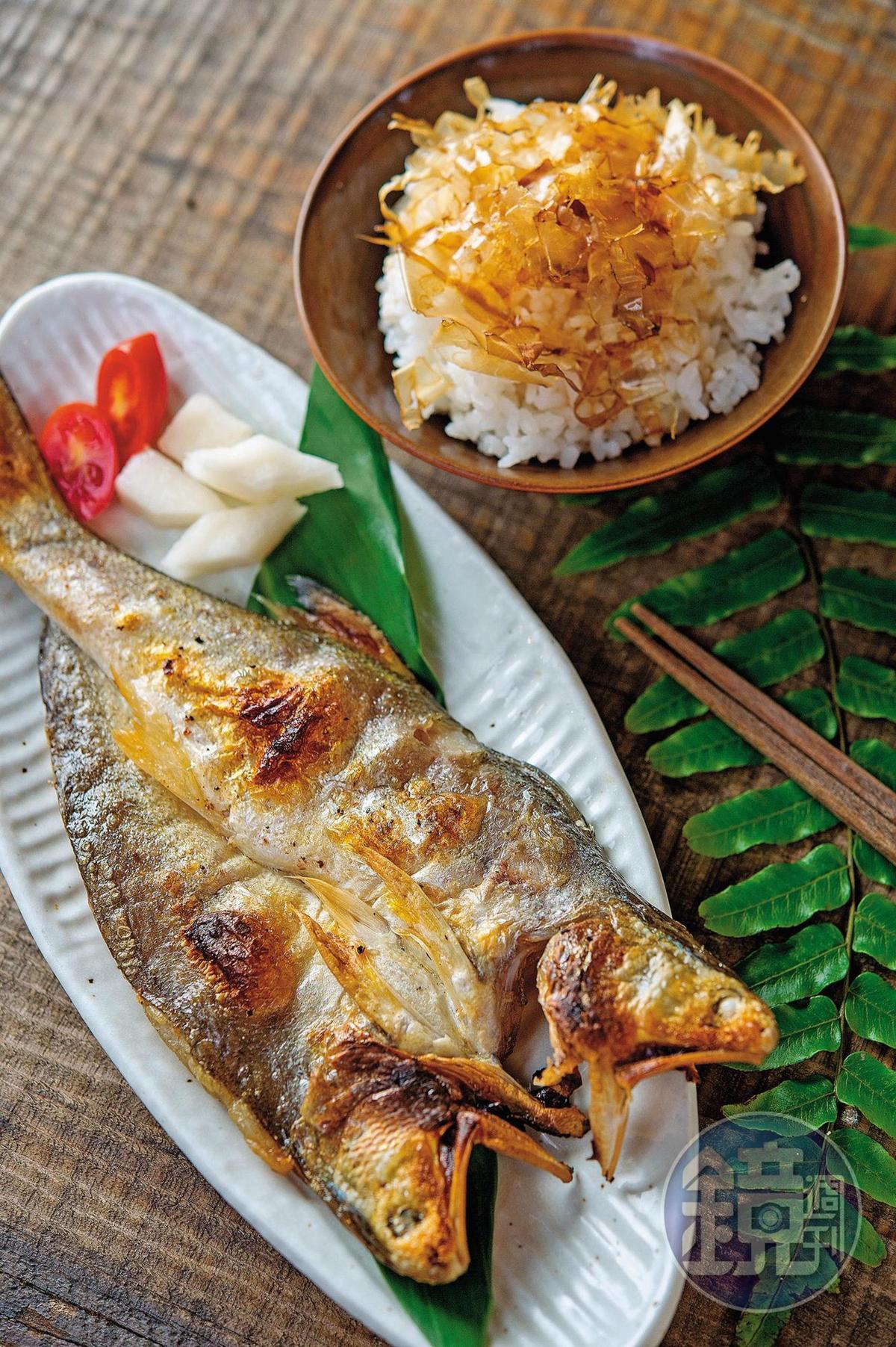 「午仔魚一夜干」有滿滿的油脂甘甜及時間的香氣。(280元/份)
