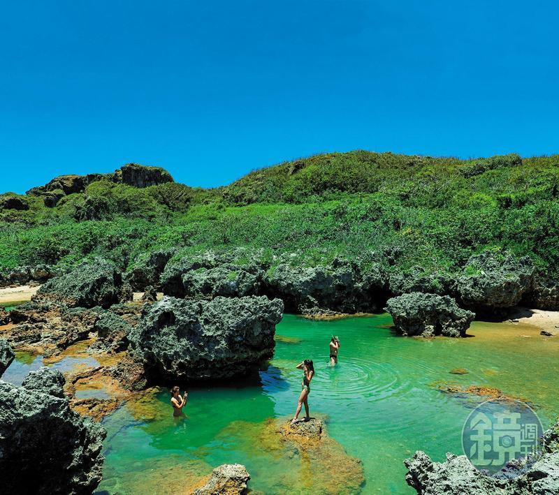 後壁湖的珊瑚礁群間,藏有不少浮潛祕境。