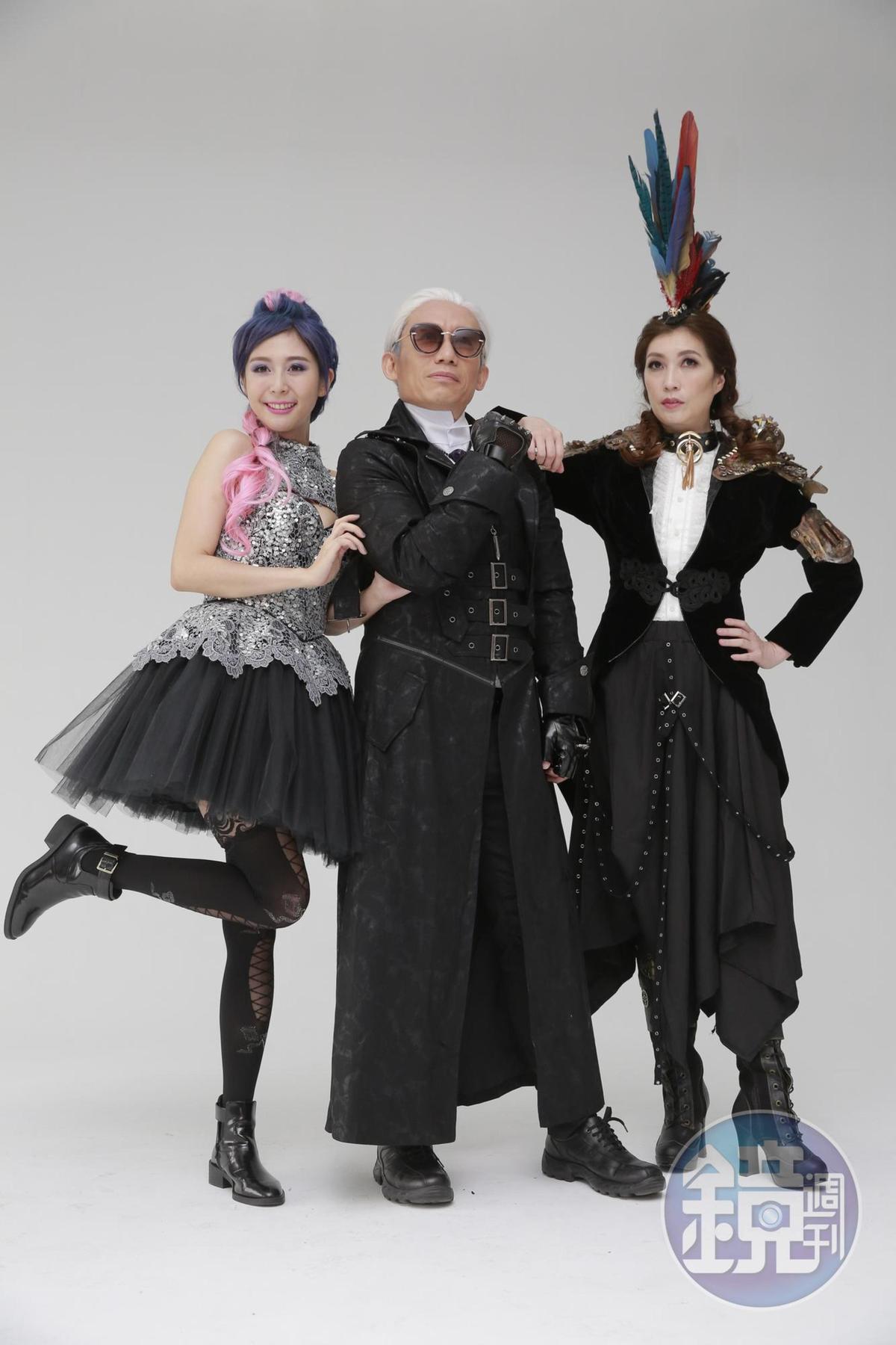 郭子乾飾演兩位女演員的爸爸,「誰出的價錢高,我就把女兒嫁給他」。