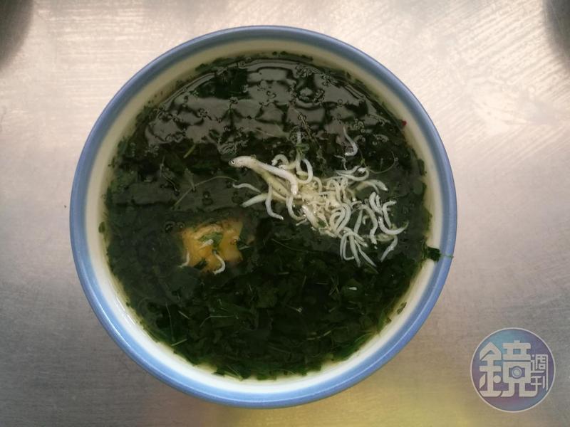 這一碗綠色「勾勾」的湯,是老台中人才懂得的滋味。