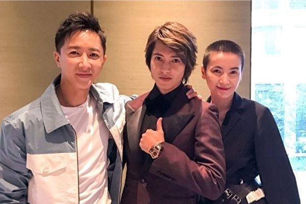 傑尼斯山下智久開通個人微博,放上他與韓庚、李媛的合照,教粉絲超驚喜。(翻攝自山下智久微博)