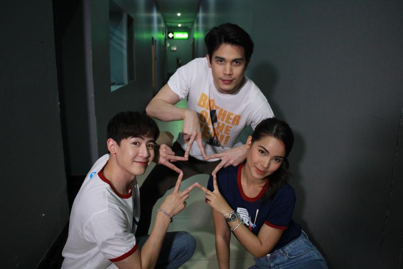 尼坤(左起)、Sunny、Yaya的人氣爆炸,他們即將來台與影迷見面,700張見面會電影票開賣1分鐘就秒殺。(CatchPlay提供)