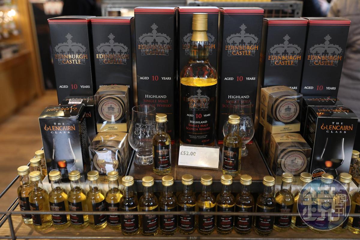 愛丁堡城堡也有冠上自己品牌的威士忌。