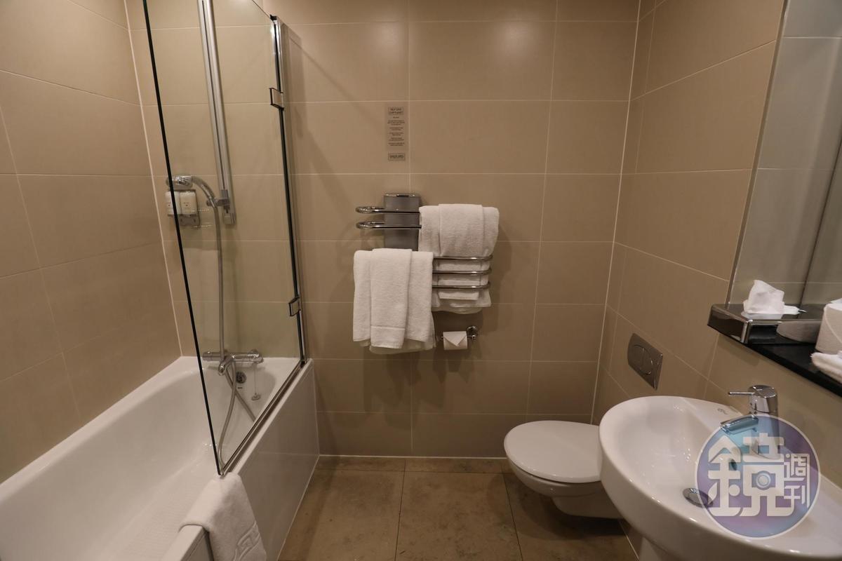 衛浴設備簡潔現代。