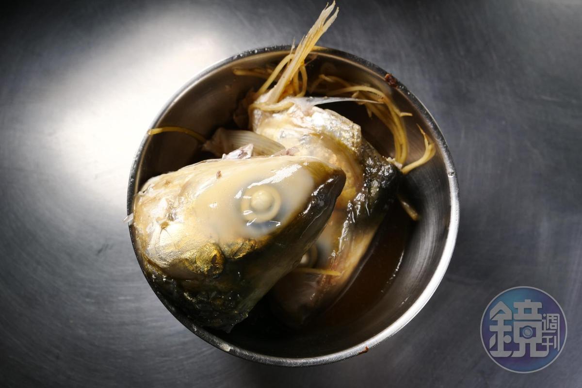 「魯(滷)魚頭」入味,老饕特別愛吃。(10元/粒)