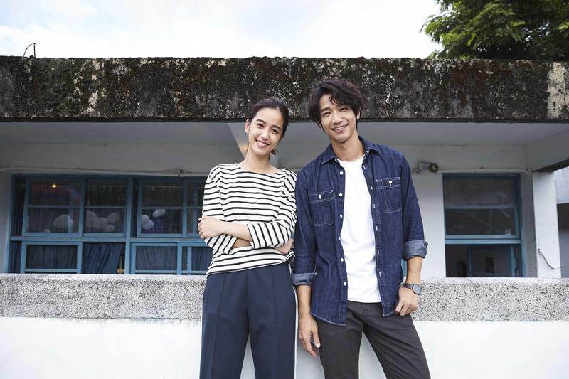 劉以豪和陳庭妮在花蓮拍戲,兩個人都覺得很放鬆。(歐銻銻娛樂提供)