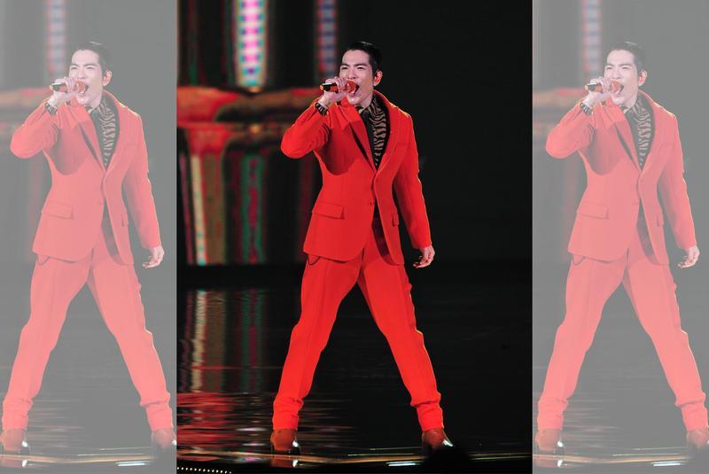已是歌王的蕭敬騰,在這屆的金曲獎頒獎典禮中,也展現了驚人的主持功力。(台視提供)
