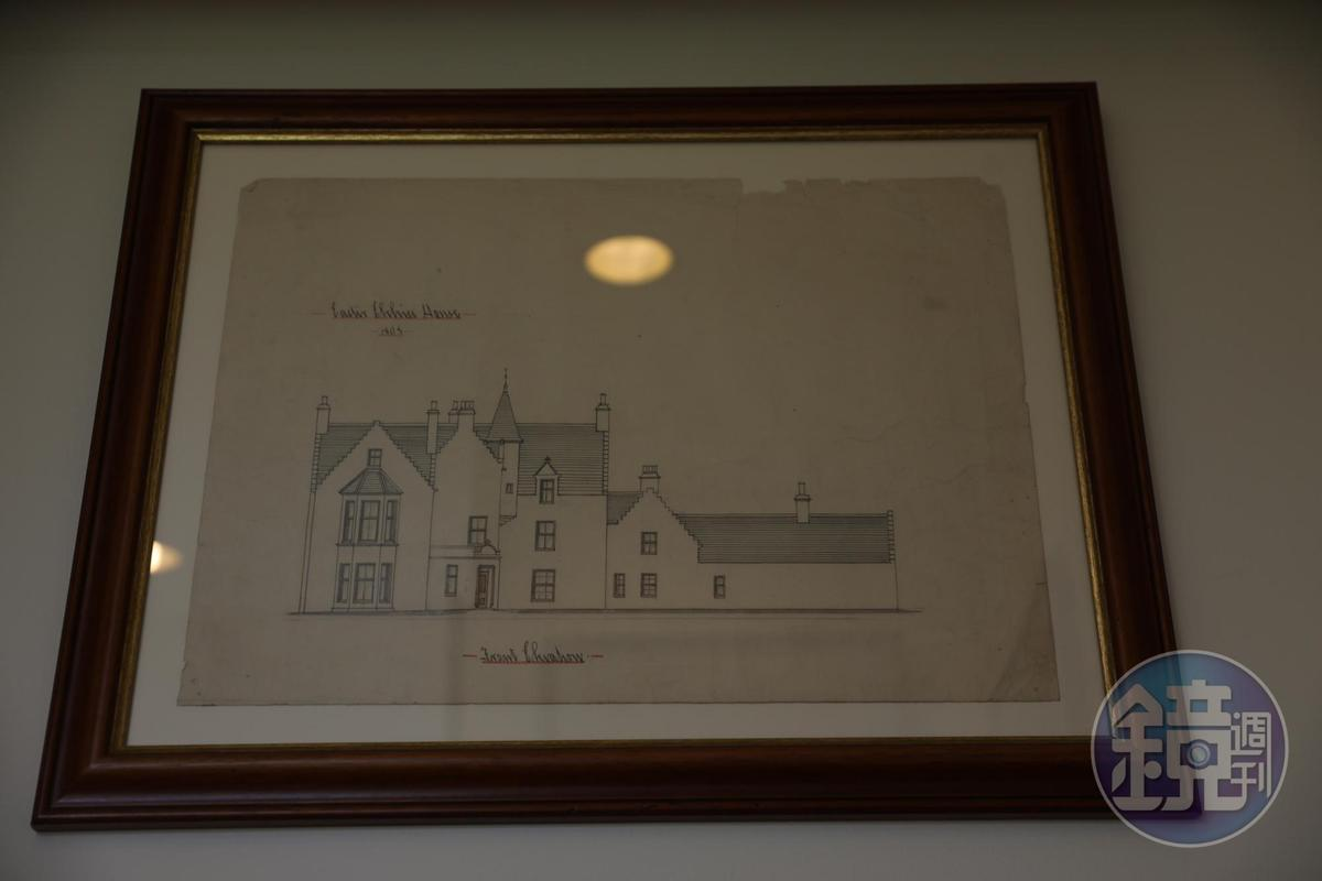 Easter Elchies House在1805年增建時的建築手稿。