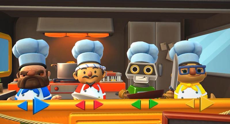 《煮過頭 2》是以餐廳廚房為背景的歡樂派對遊戲,最多支援四人遊戲。(圖片提供:傑仕登)