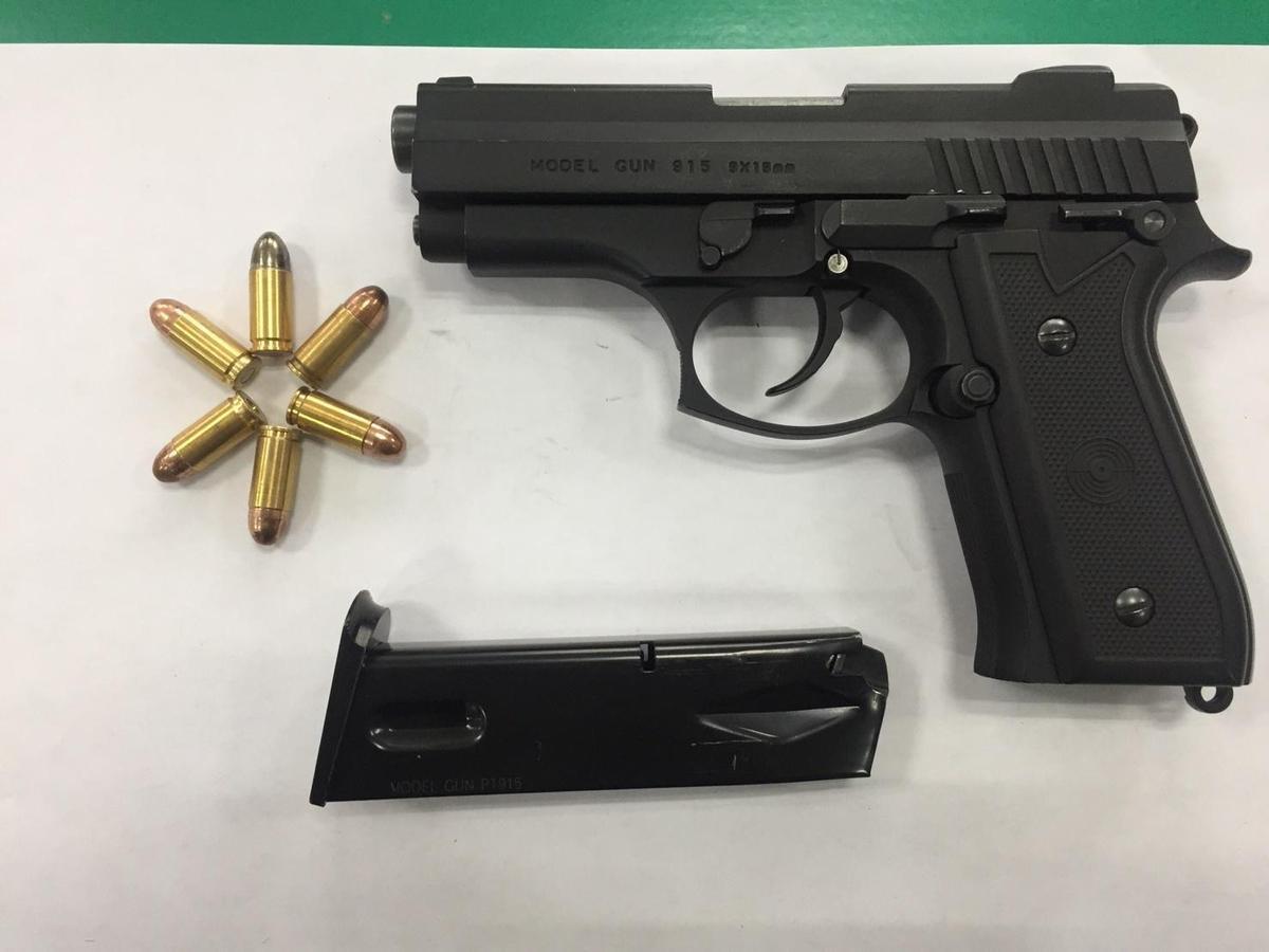柯嫌還被查獲1把改造槍、子彈6發。(警方提供)