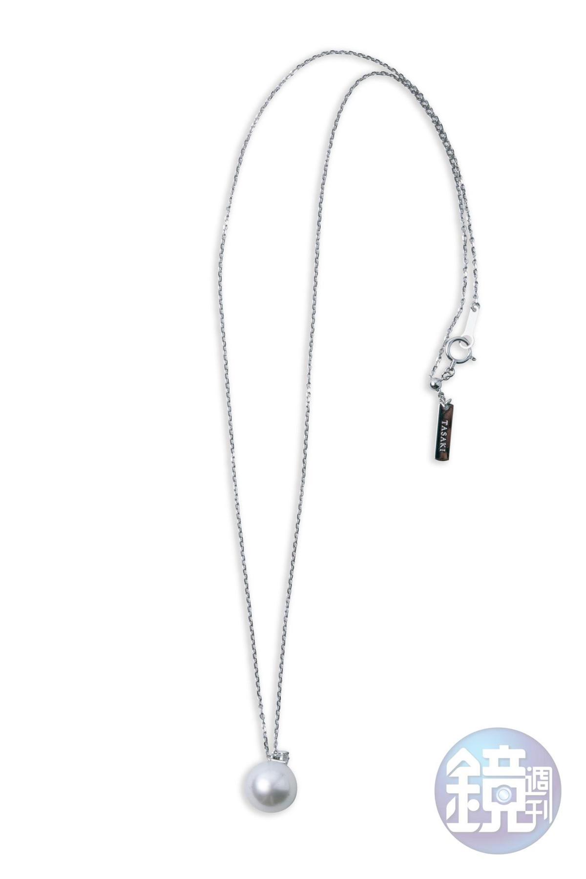TASAKI珍珠項鍊是今年的母親節禮物,約NT$100,000。
