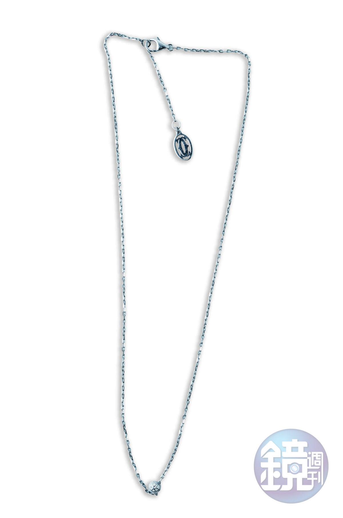 Cartier鑽石項鍊,老公送的禮物。
