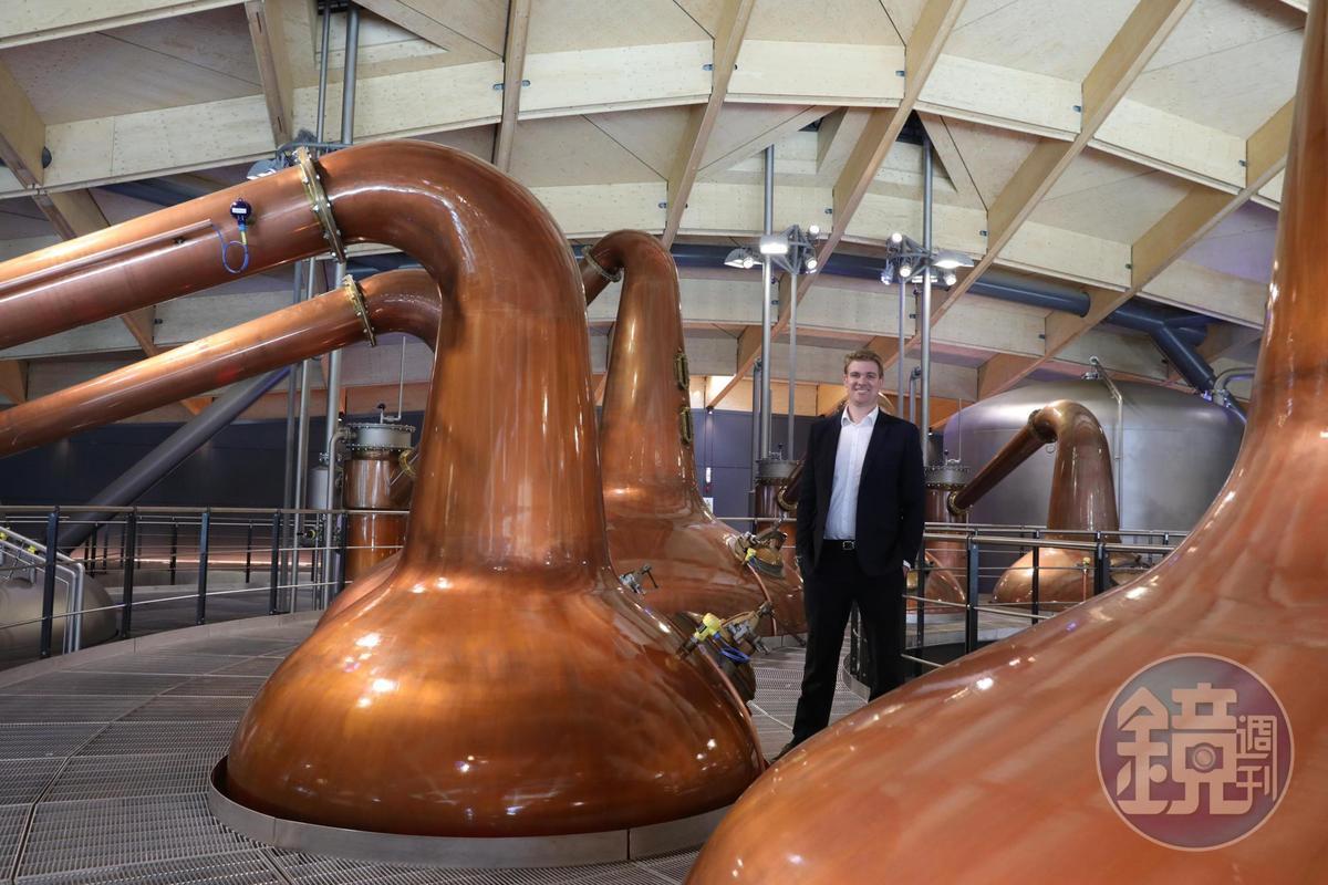 麥卡倫的蒸餾器是斯貝賽地區最小巧的版本,從1950年開始從未改變。