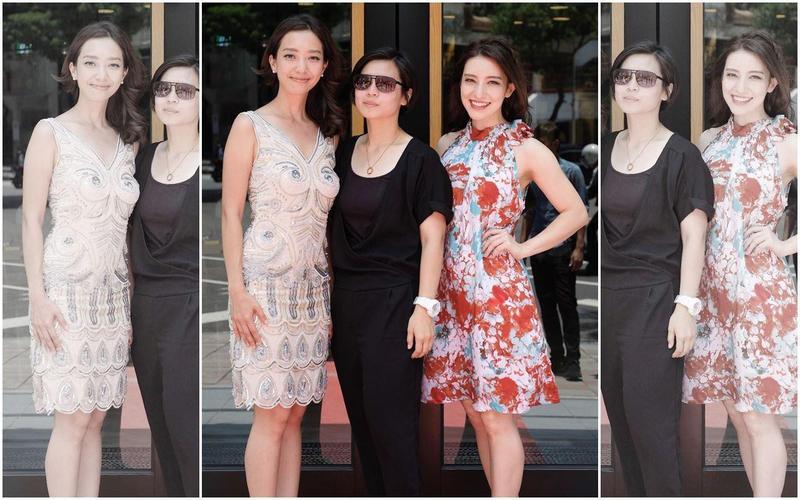 Lara梁心頤(右)將挑戰大螢幕,演出姊姊梁妍熙導演(左)、監製Amo之電影《明日之星》。(妹妹娃娃多媒體提供)