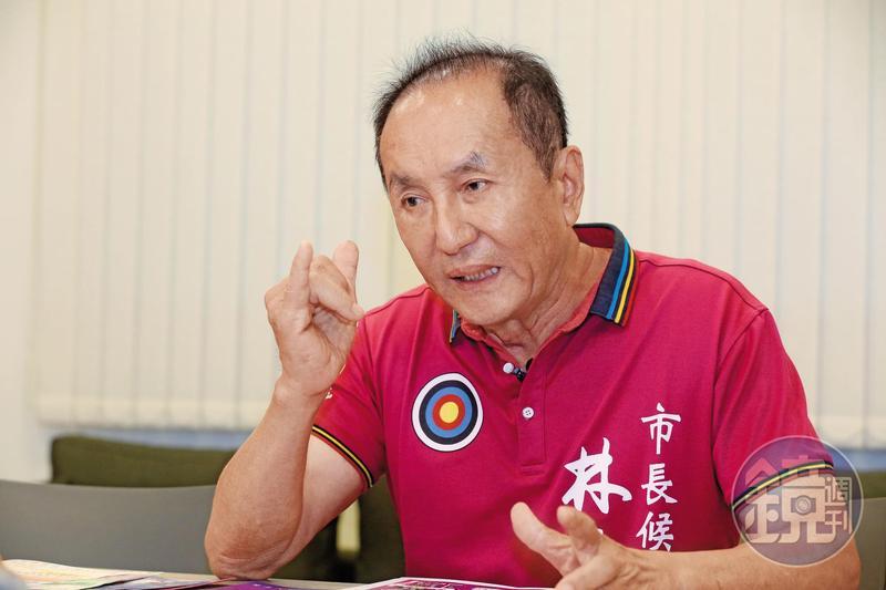 宣布參選台南市長的伍彩集團總經理林義豐傳出蓋豪宅預售遭控詐騙。