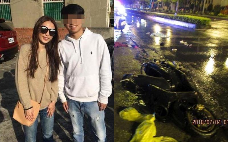 藝人田馥甄外甥騎車出意外,疑似天雨路滑自撞電箱,到院前死亡。(翻攝自臉書)