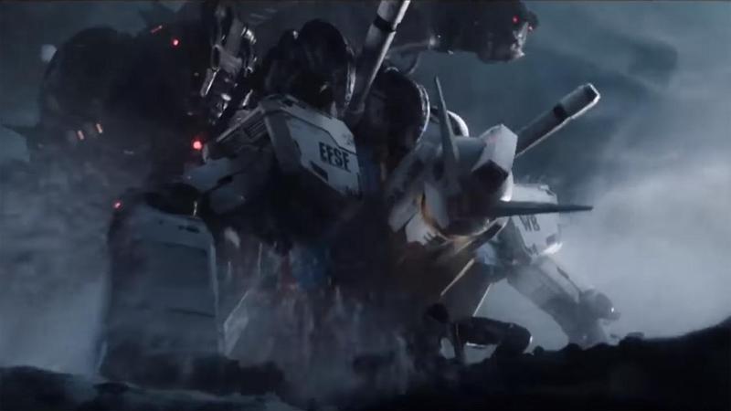 日昇與傳奇影業將合作打造鋼彈真人電影。圖為《一級玩家》中鋼彈登場片段。(翻攝自Youtube)