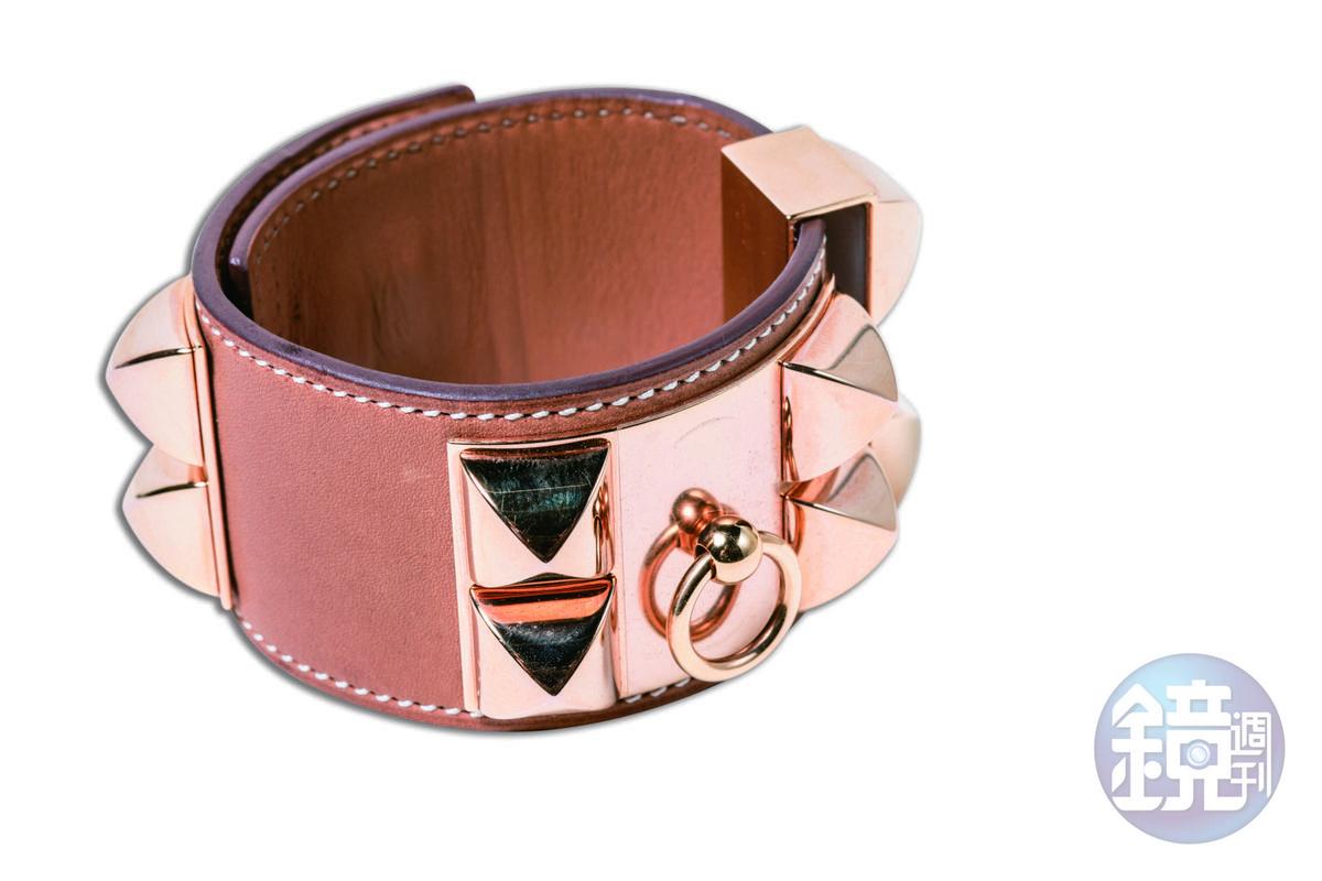 HERMÈS  Collier de Chien(CDC)手環,約NT$40,000。