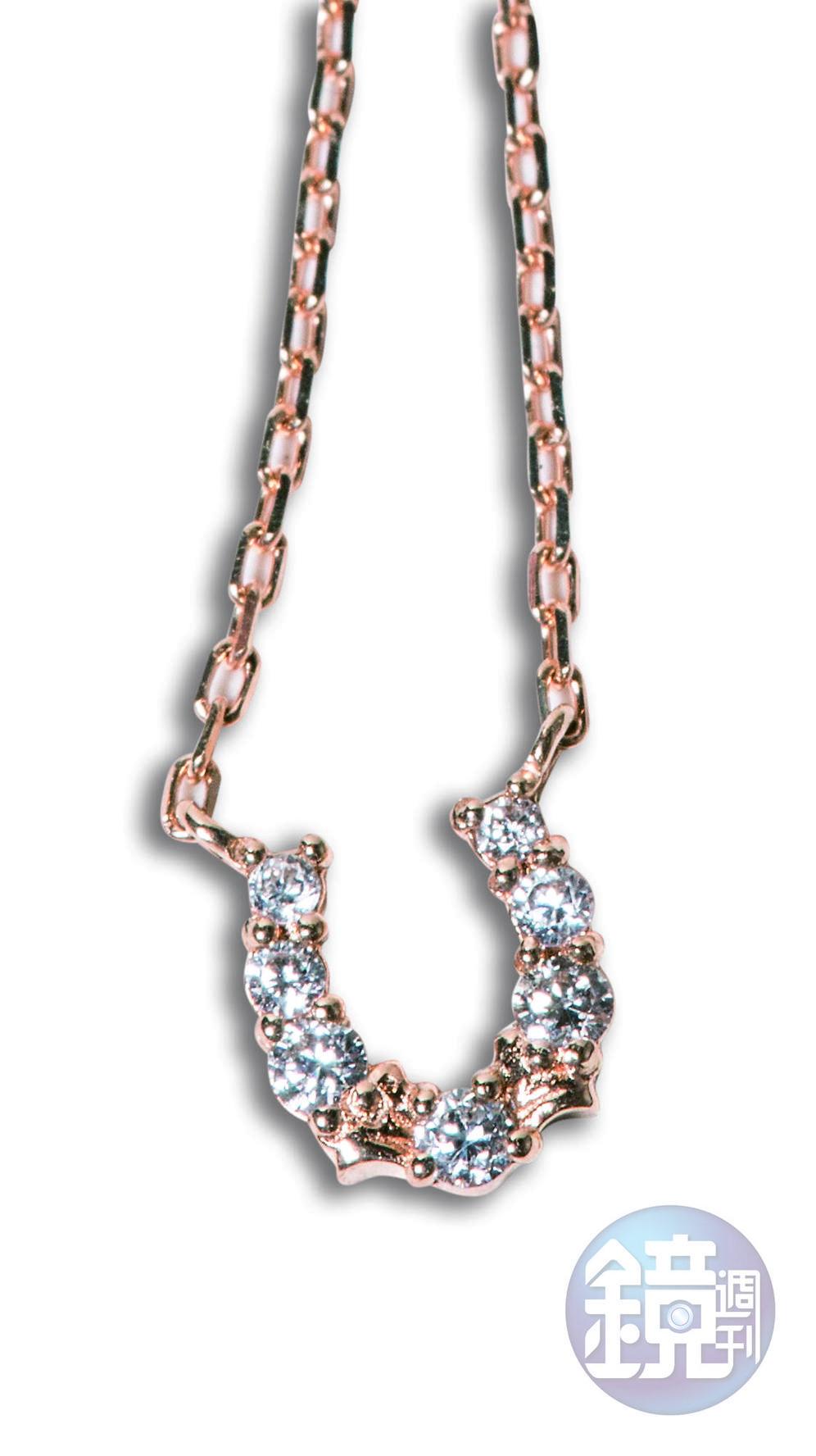 agete鑽石項鍊,品牌贈送的母親節禮物。