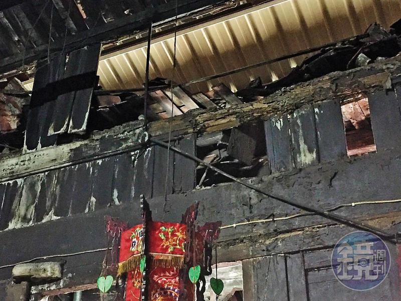 板橋迪毅堂被列為市定古蹟5年,至今仍殘破不堪宛如鬼屋。(議員何博文提供)