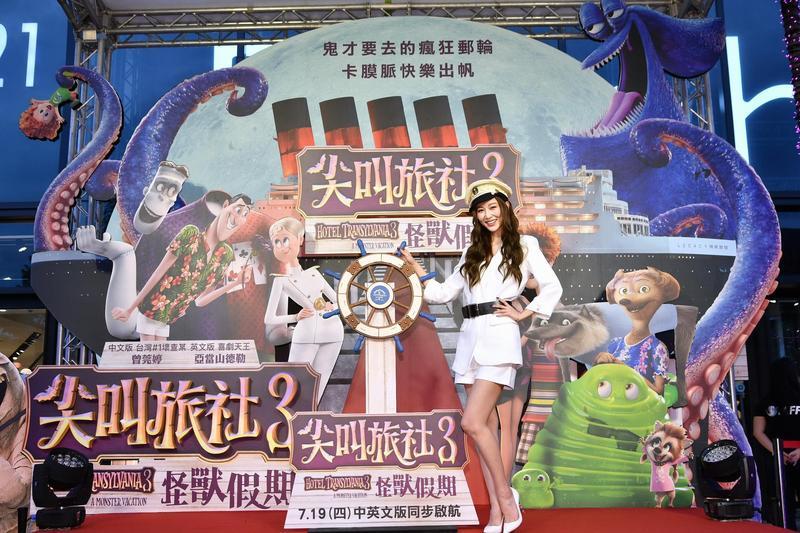 號稱「台灣#1壞查某」的曾莞婷首度為動畫配音,但依然扮演反派,她懊惱依然擺脫不了壞女人形象。(索尼提供)
