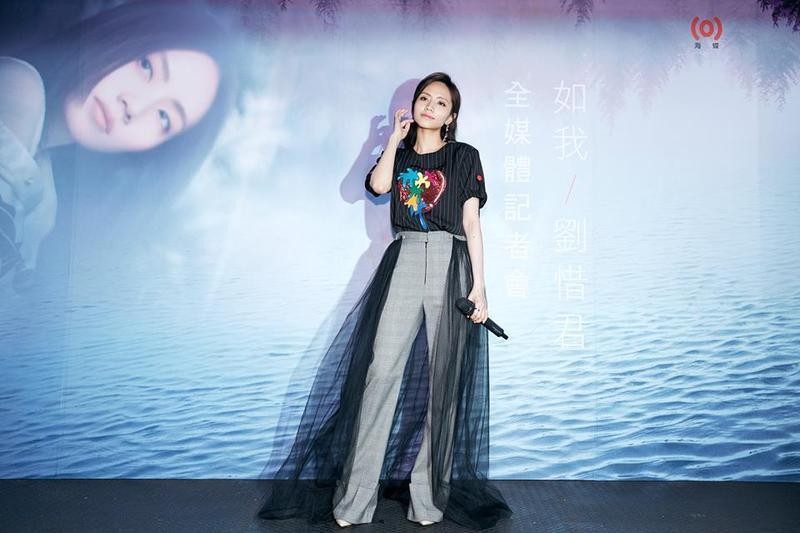 大陸歌手劉惜君日前來台灣宣傳新專輯《如我》,趁機大吃台灣美食。(娛樂嘿新聞提供)