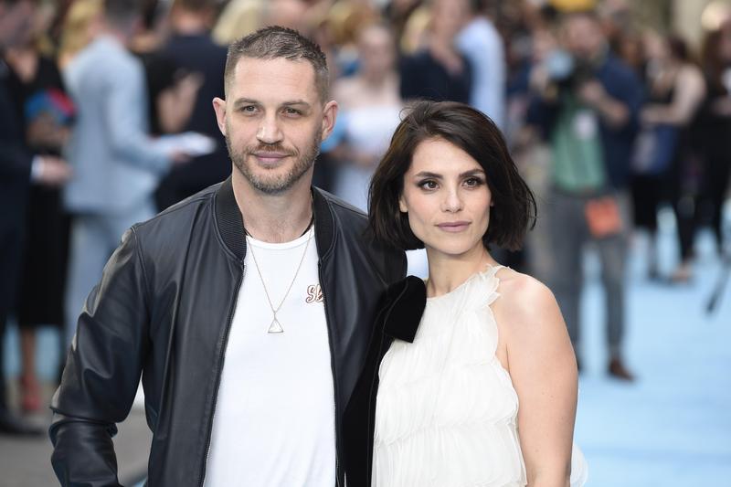 英國男星湯姆哈迪與妻子夏洛特雷莉結縭4年,傳將要迎來兩人的第二個寶寶。(東方IC)