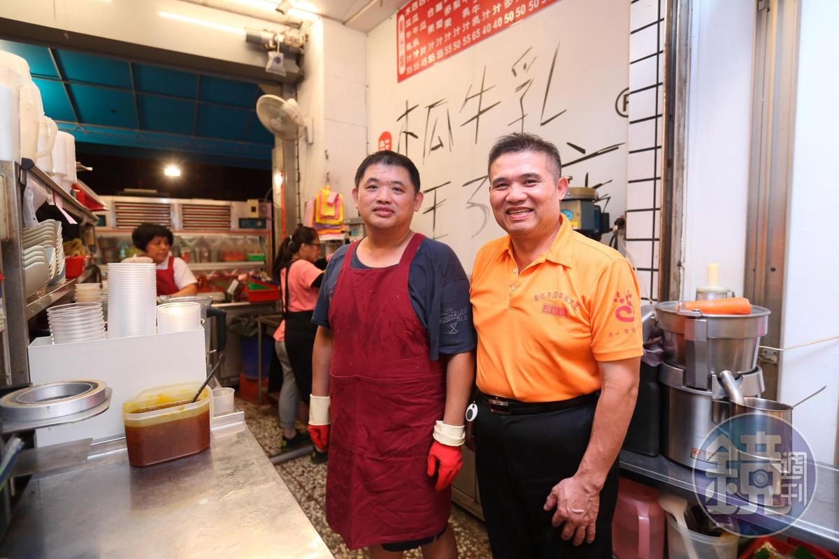 盧信昌(左)2015年遷租彰化市彰美路,盼擴大老店客源。