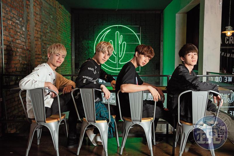 A-Team由龔言脩(左至右)、英承晞、高興及李宇平組成,是新一代備受注目的男團。