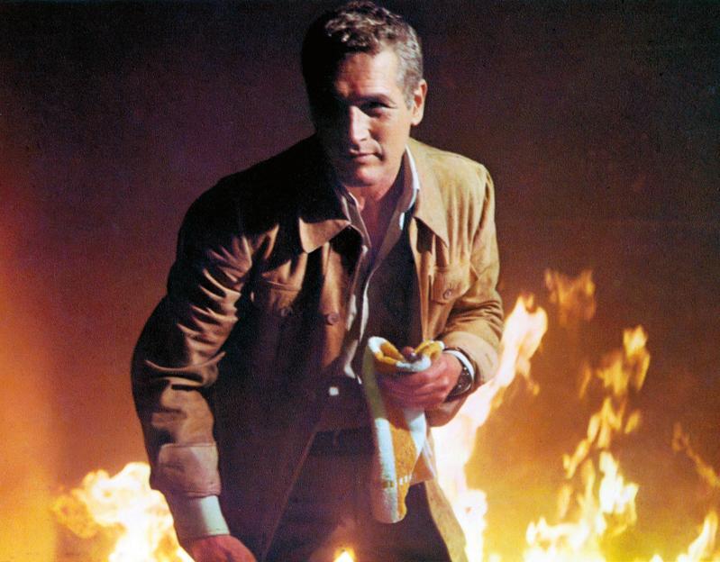 《火燒摩天樓》在1974年推出,敘述舊金山剛落成的138層大樓,因業主偷工減料與防火標準不良,在開幕夜當晚就陷入火海。(東方IC)
