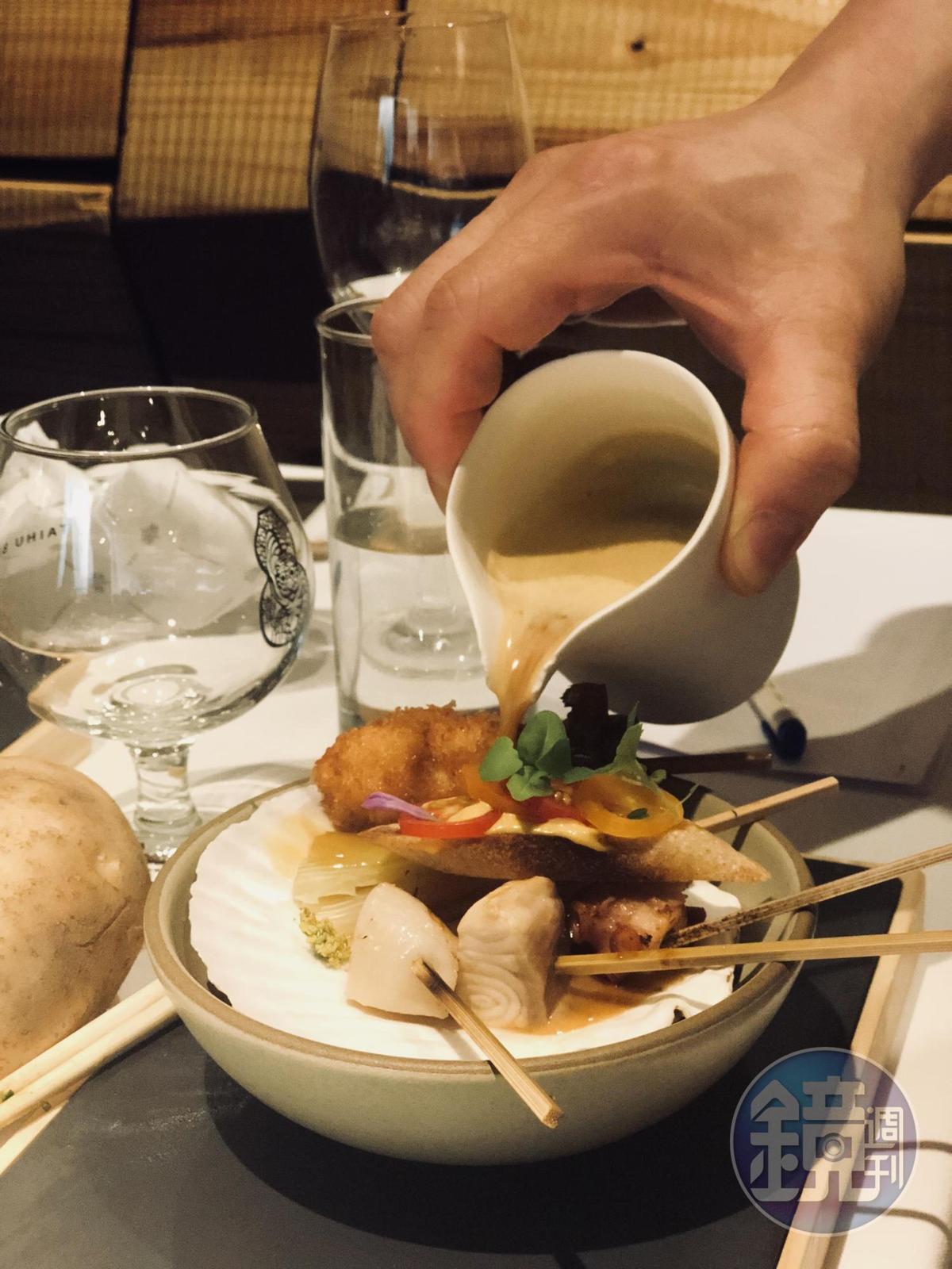 Alain的「馬賽海鮮湯」。