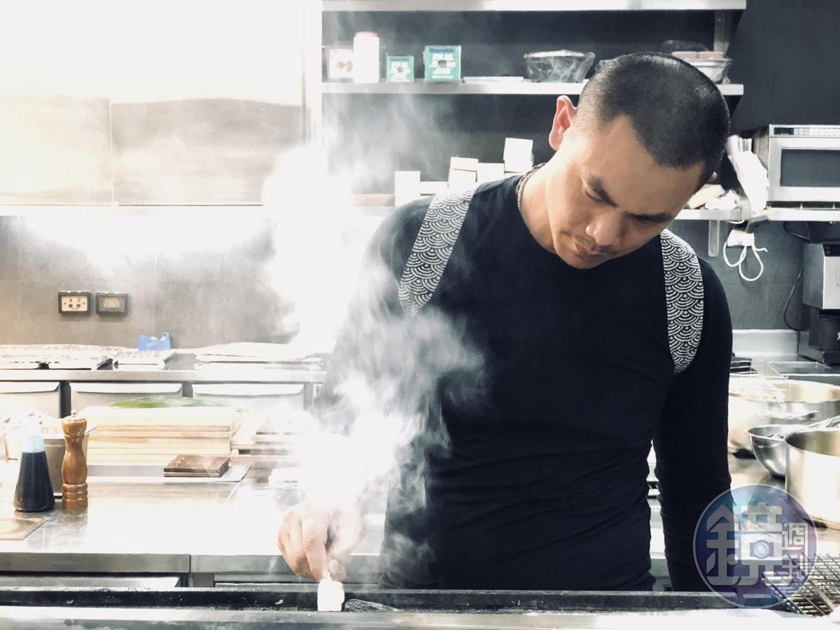 江振誠為這次餐會設計了4道獨門串燒。