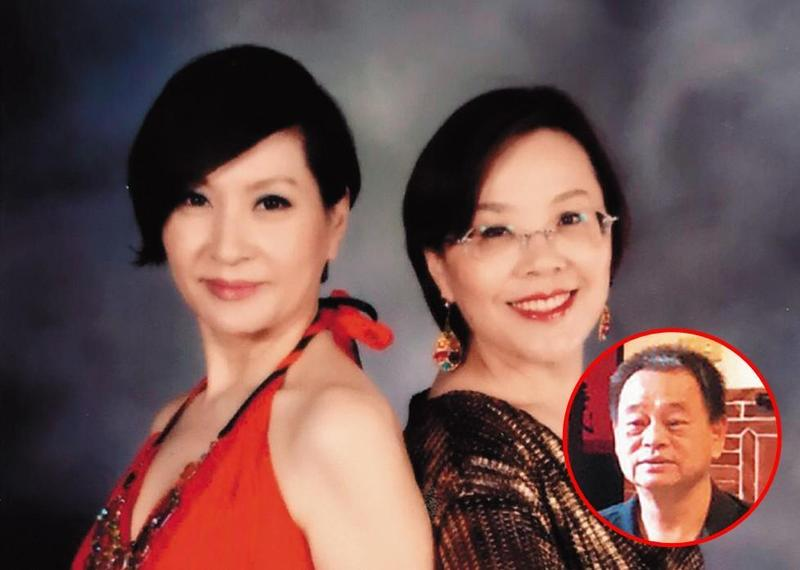 藝人方芳芳(左)的姊姊方典(右)曾任華視董事,她去年遭丈夫家暴。(讀者提供)
