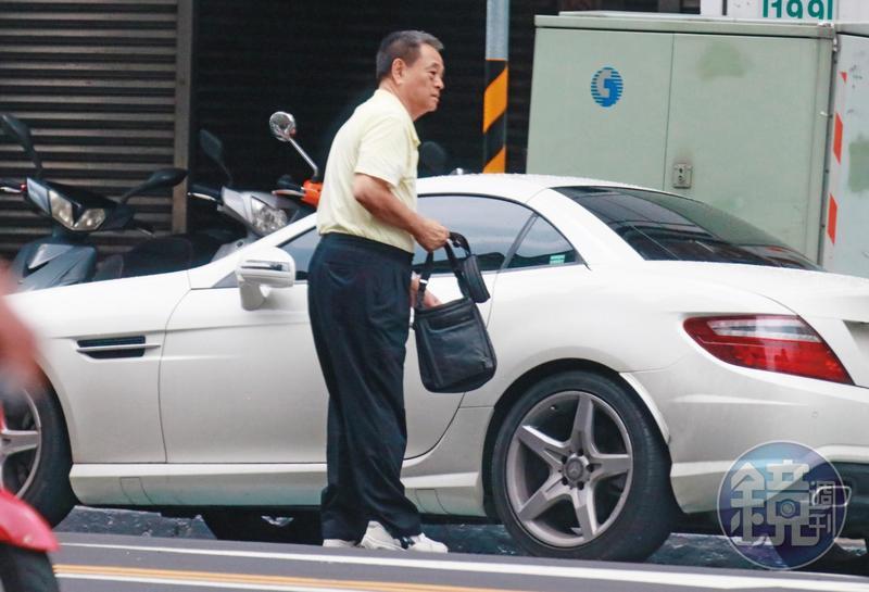 7月7日下午,王正立從台北市天母住家開著賓士雙門跑車,到新北市新店一棟大廈,待了2個多小時。
