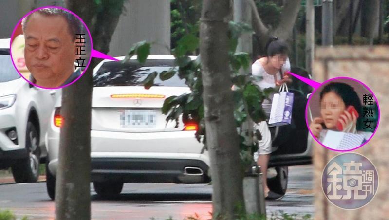 與妻子分居中的王正立,7月7日載著一名輕熟女(圖),從新北市新店出發到台北市信義區。