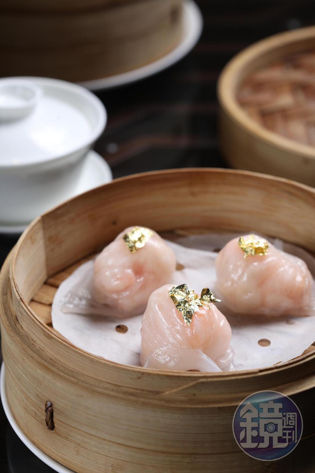 「香宮龍蝦餃」吃得到龍蝦的鮮甜。(26歐元/份,約NT$930)