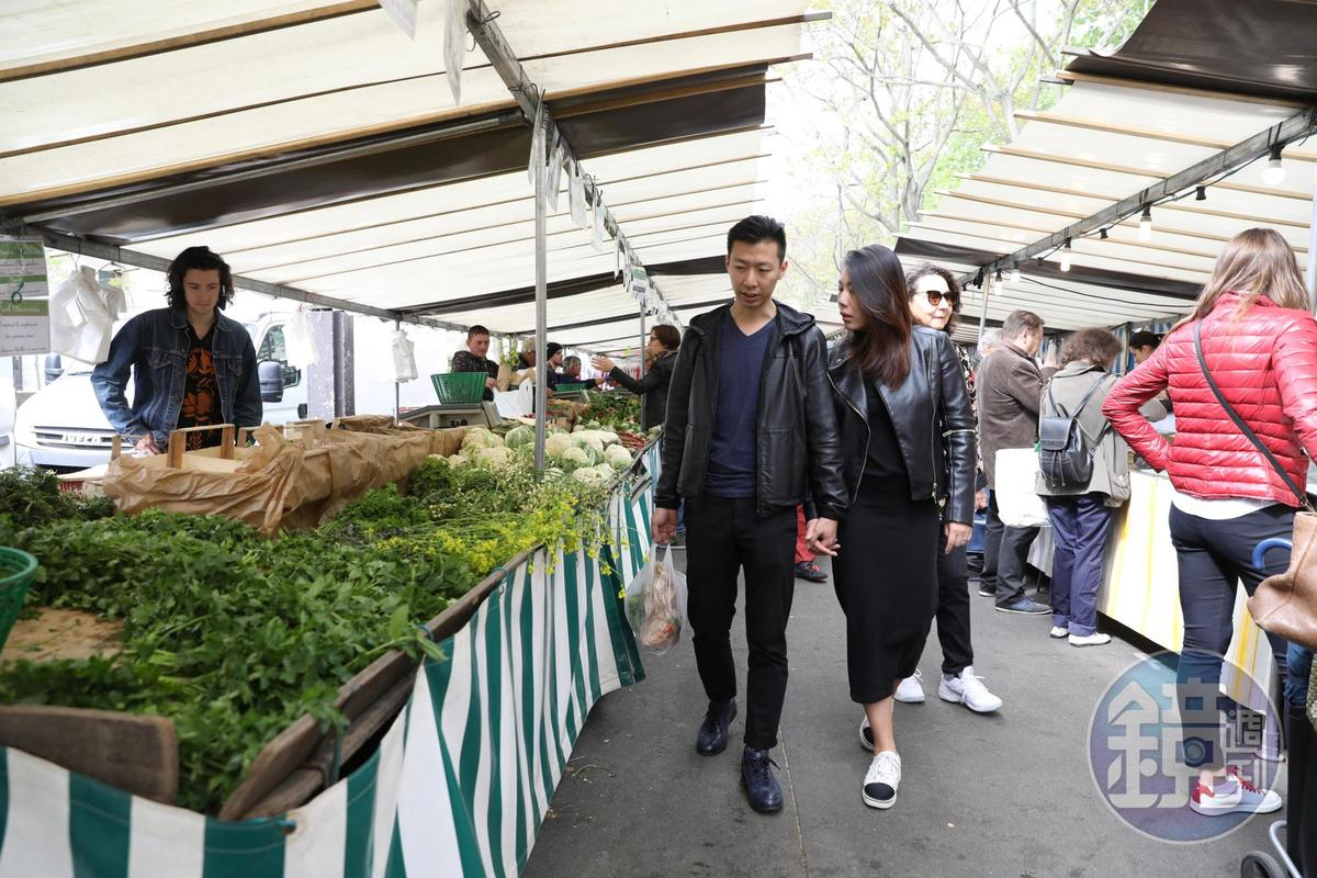 李森與陳渝欣很融入巴黎的日常生活。