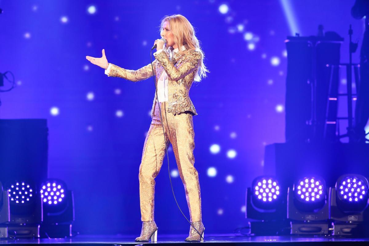席琳狄翁站上台北舞台,舉手投足都讓台下瘋狂尖叫。