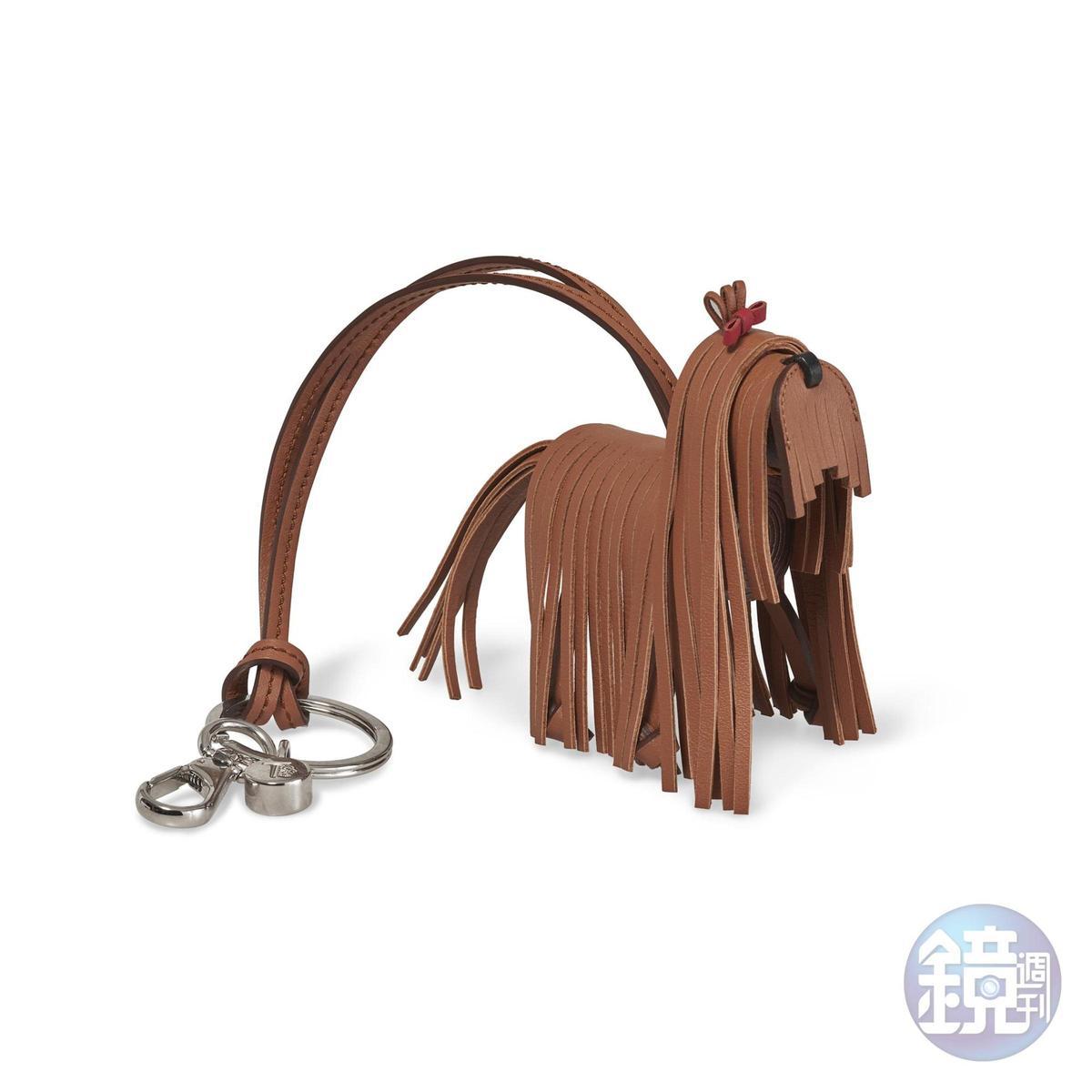 TOD'S狗狗造型皮革鑰匙圈,NT$13,000。