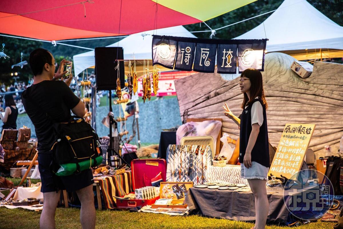 「得瓦拉工作室」只有在開幕市集出現,之後的開放工作室體驗,可以在蘭嶼、花蓮、台東等地找到。