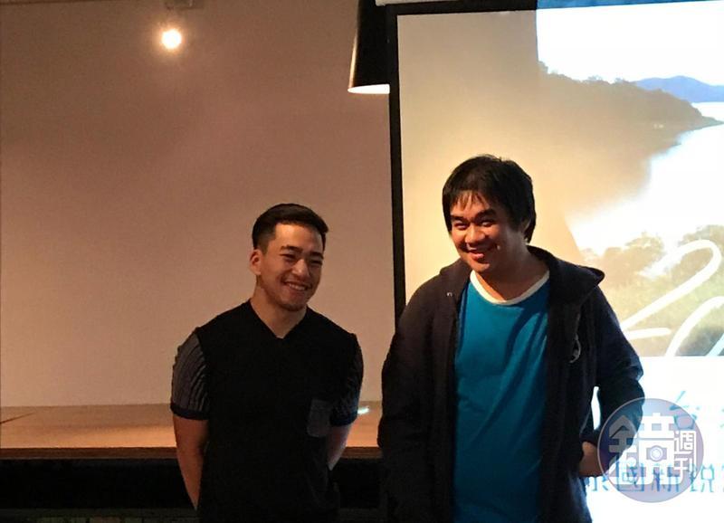 瓦拉共(左)與索拉育(右)是泰國新銳導演,目前都在準備長片中。(本刊照片)