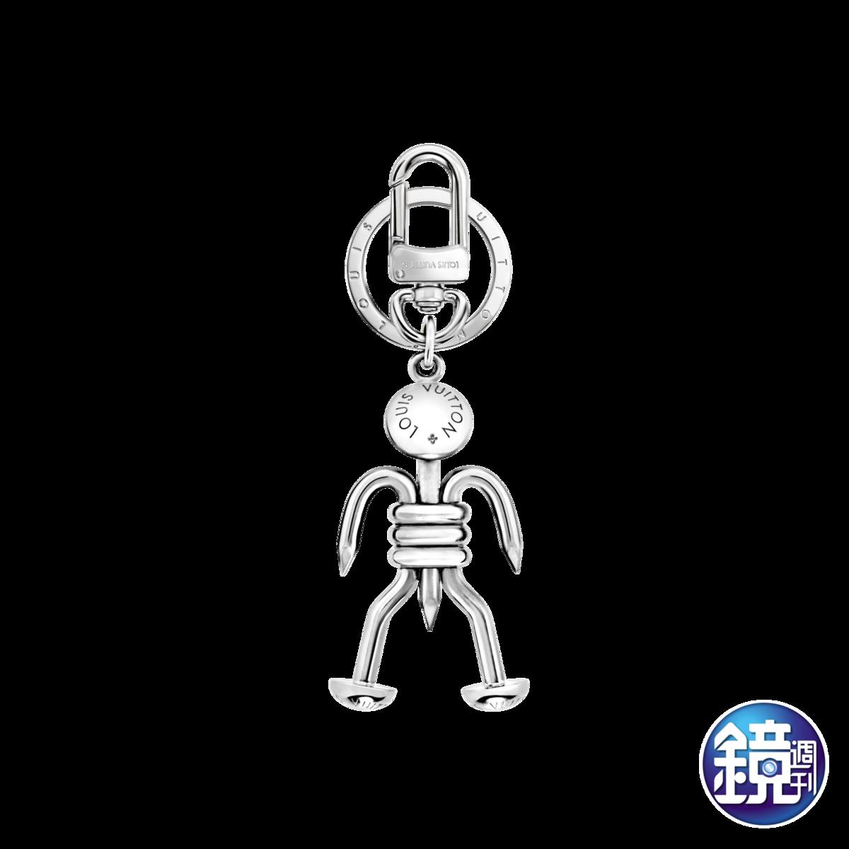 快閃店獨賣商品:LV機器人造型鑰匙圈,NT$24,400。
