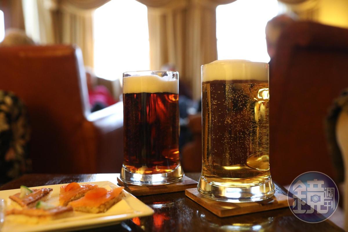 飯前來杯生啤酒,主人還會奉上伴酒小食。